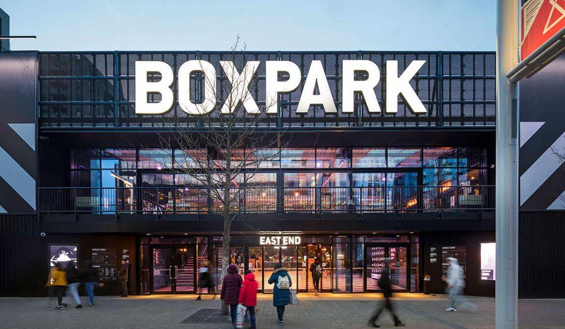 Boxpark facade small retailers