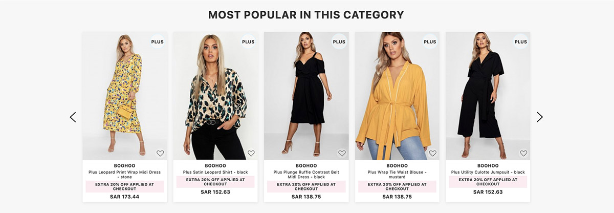 Product Recommendations Most Popular Category