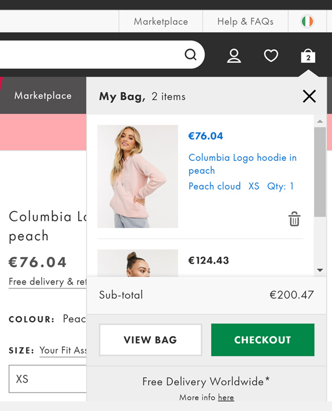 ASOS-shopping-cart-page