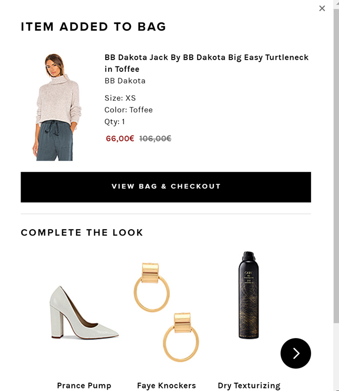 REVOLVE-shopping-cart-page