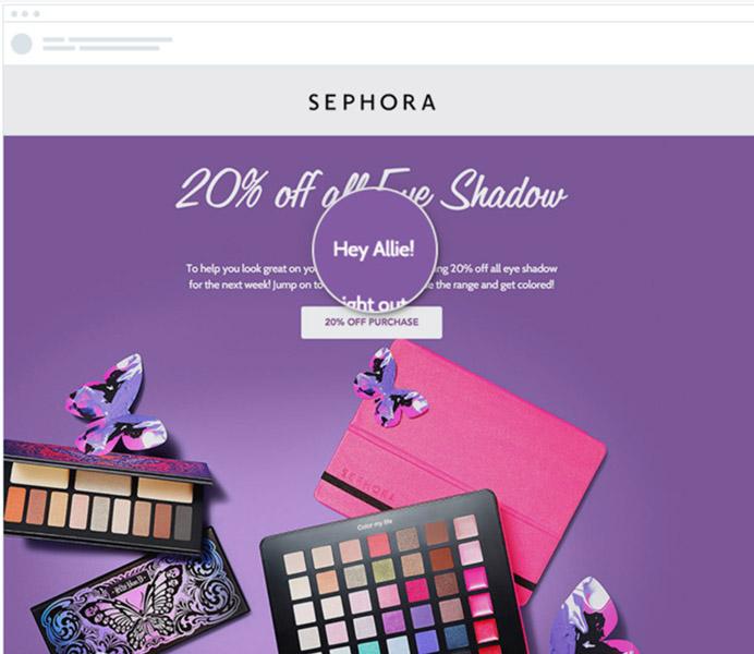 SEPHORA Personalised Email