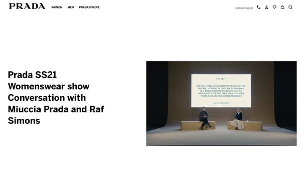 Q&A - Prada Digital Fashion Show Sept 2020