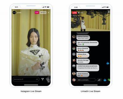 Social Media LiveStream - Prada Digital Fashion Show Sept 2020